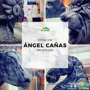 """Exposición Ángel Cañas  """"Arte reciclado"""" Pamplona"""